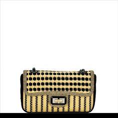 0d349d2fd8e7 Chanel Raffia Patent Flap Classic Interior, Black Canvas, Gold Hardware