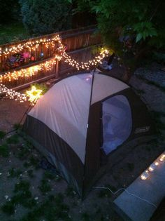 Romantic Inspired Backyard Camping
