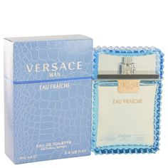 Versace Man by Versace Eau Fraiche Eau De Toilette Spray (Blue) 3.4 oz (Men)