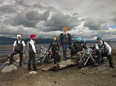Urban cowboys: Sikh Motorcycle Club in Stanley Park, Vancouver, British Columbia