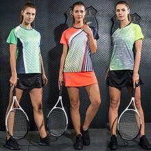 LYNSKEY Women Tennis Shirt Set Badminton Clothing Table Tennis Clothes Breathable Sports Shirt+Tennis Skirt Suit(China)