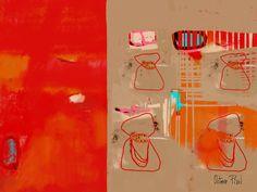 Rouge vif, rouge pourpre, rouge de cadmium, autant de teintes qui mettent en valeur avec style les tableaux abstraits rouges exposés dans notre galerie.
