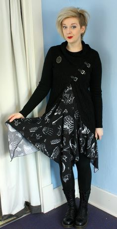 Coffin Kitsch: Layer, Layers, Layering #goth #outfit #winter