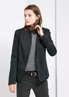Cotton suit blazer