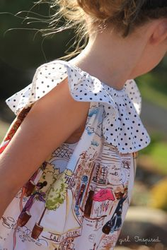 Sleeveless Peasant Dress Tutorial - turn a peasant dress pattern into this darling sleeveless dress! #sewing