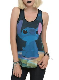 Disney Lilo & Stitch Sad Sublimation Girls Tank Top, , hi-res