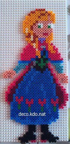 Princess Anna - Frozen hama perler beads by Deco.Kdo.Nat
