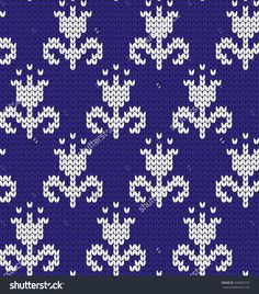 Find Knitted Seamless Pattern Flowers stock images in HD and millions of other royalty-free stock photos, illustrations and vectors in the Shutterstock collection. Baby Sweater Knitting Pattern, Fair Isle Knitting Patterns, Baby Hats Knitting, Knitting Charts, Weaving Patterns, Loom Knitting, Knitting Stitches, Fair Isle Chart, Tapestry Crochet