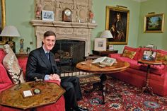 Mr Rees-Mogg, MP for North East Somerset, in the Grade II-listed property he and wife Hele. Eric Blair, Jacob Rees Mogg, House Of Commons, Safe Haven, Smoke Alarms, Being A Landlord, Somerset, We The People, Thing 1