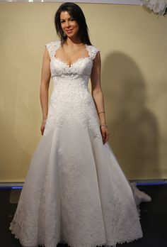 Anne Bowen - Fall 2012 - All You Need Is Love Short Sheath Wedding Dress  with Illusion Tulle Strap and Train 59702c4a312d