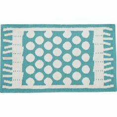Party Turquoise Indoor-Outdoor 2'x3' Rug in Paola Navone Party | Crate and Barrel $40