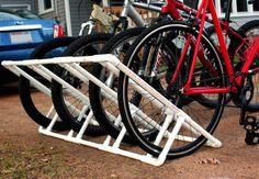 Afbeeldingsresultaat voor pvc bike rack