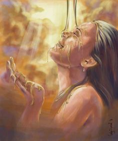 Prophetic Painting Digital Art - Soaking In Glory by Tamer and Cindy Elsharouni Jesus Art, God Jesus, King Jesus, Bible Art, Bible Scriptures, Bride Of Christ, Prophetic Art, Lord Is My Shepherd, Biblical Art
