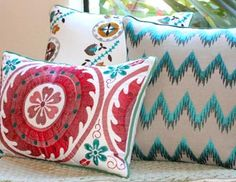 I pinned this from the Patterns That Pop - Vibrant Pillows in Ikat, Chevron, Medallion & More event at Joss and Main!