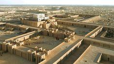 URUK - Reconstitution de l'Eanna et du Temple d'Inanna.