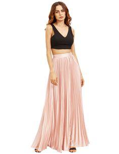 Angelic Pleated Maxi Skirt : Classy Pleated Maxi Skirt