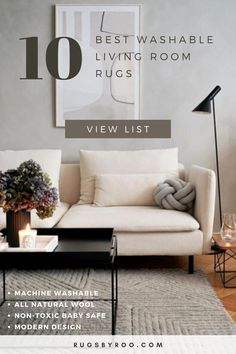 In this article, I share our 10 Best Sellers in the category of Washable Living Room Rugs.  Our customers are mostly parents and they know a thing or two about balancing style with functionality.  They also value sustainability and are looking for a rug that they know is 100% safe for their little ones. All the rugs in this list are made from either 100% wool or cotton, using all natural dyes. They are also fully machine washable in a domestic washer. Room Rugs, Rugs In Living Room, Baby Nursery Rugs, Lorena Canals, Baby Safe, Other Rooms, Mansion, Cribs, Sustainability