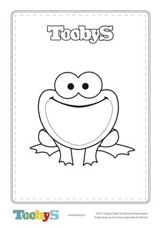 Toobys - Frog for coloring - www.toobys.tv