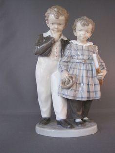 "Royal Copenhagen Porcelain Figurine ""Flight to America"" 1761"