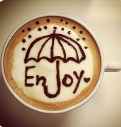 Enjoy Coffee even when it's a rainy day!