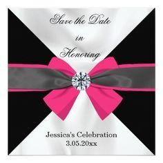 Classic Black & White Magenta Bow 5.25x5.25 Square Paper Invitation Card http://www.zazzle.com/classic_black_white_drapery_with_magenta_bow_invitation-256038122049994732?utm_content=buffer8db54&utm_medium=social&utm_source=pinterest.com&utm_campaign=buffer #weddinginvitations