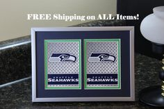 Seattle Seahawks 5x7 No Exposure Authentic Playing Card Display by SinCityDisplays