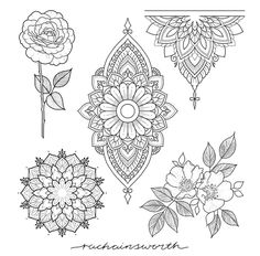 Flower tattoos are a common tattoo design for many people. Flower tattoos are a common tattoo design for many people. Today, tattoo artists compete with each other to create the most flowery, colorfu. Lotusblume Tattoo, Back Tattoo, Body Art Tattoos, Tatoos, Female Tattoos, Henna Tattoos, Mandala Tattoo Design, Flower Tattoo Designs, Flower Tattoos