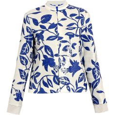Diane Von Furstenberg Marcie print jacket ❤ liked on Polyvore