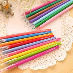 Online Shop Colorful Multicolor Candy Color Rainbow Cute Gel Pen... ❤ liked on Polyvore featuring home, home decor, mobile home decor, colorful home decor, multicolor gel pen, japanese home decor e colorful gel pens