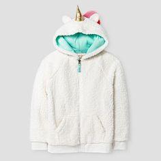 Girls' Unicorn Cozy Hoodie Cat & Jack™ - Cream