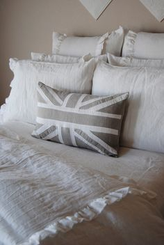 14x24 inch Throw Pillow Cover-Lizzie Linen Bedding Collection