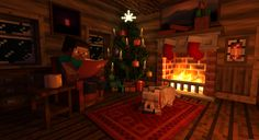 Steve resides in his wood cabin during christmas Check out the time lapse of the modeling process! Some textures from Minecraft - trademark of Mojang AB. Minecraft Building Guide, Minecraft Houses Survival, Easy Minecraft Houses, Minecraft Plans, Minecraft House Designs, Minecraft Blueprints, Minecraft Creations, Minecraft Projects, Minecraft Stuff
