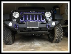 Purple D Rings and throat rings - black Jeep
