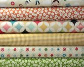 Fly a Kite Fabric by Riley Blake Designs, October Afternoon, Fat Quarter Bundle, Floral, Gingham, Children,