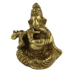 Amazon.com: Religious Statues Brass Musical Ganesha in Sitting Posture Height: 3.25 inches: Furniture & Decor