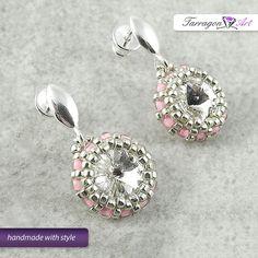 Ohrstecker - Kolczyki Beaded - Crystal & Pink - ein Designerstück von TarragonArt bei DaWanda