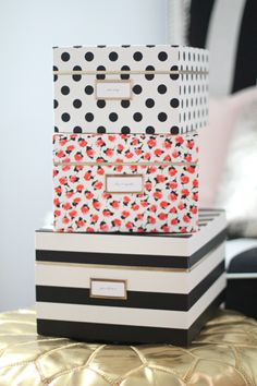 Gorgeous nesting boxes make staying organized a cinch
