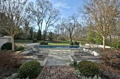 brick, pool deck, wall top