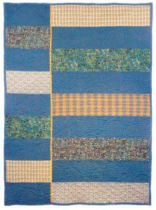 Quick modern baby quilt