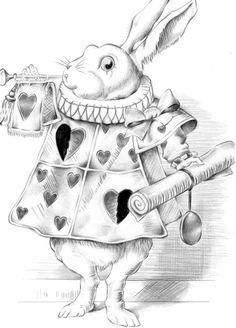 i like this illustration of the white rabbit