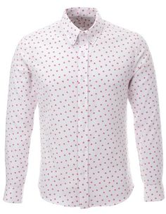 FLATSEVEN Mens Slim Fit Star Pattern Printed Long Sleeve White Casual Shirt (SH213) Pink, L FLATSEVEN http://www.amazon.com/dp/B00KR8X2SC/ref=cm_sw_r_pi_dp_G5e3ub1PK6WXH #FLATSEVEN #Mens #Fashion #Casual #Shirt