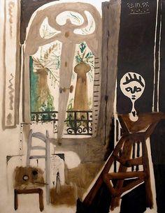 Pablo Picasso, 1955 L'atelier de La Californie on ArtStack #pablo-picasso #art
