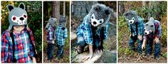 Handmade Crochet Wolf Animal  Hats for all ages