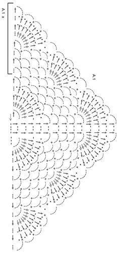 """Summer Fling - Chal a ganchillo DROPS con patrón de abanicos y arcos de cadeneta en """"Delight"""". - Free pattern by DROPS Design"""