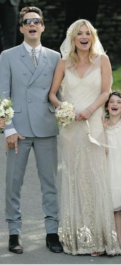 I love this Galliano dress Kate Moss wore on her big day.