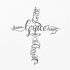 Love the elegance of this tattoo. Words that describe Christ..If it were me I wouldn't underline the words though.