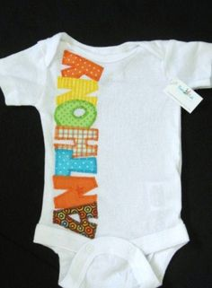 Baby boy onesie with custom name. Baby layette.. $18.50, via Etsy.
