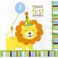1st birthday lion napkins, 16pack $4.29