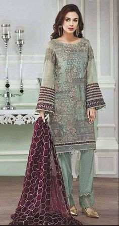 Your place to buy and sell all things handmade : custom stitched embroidered shalwar kameez kurti shirt trouser Pakistani Indian Bengali desi attire Pakistani Dresses Online Shopping, Suits Online Shopping, Latest Pakistani Fashion, Pakistani Couture, Heavy Dupatta, Lawn Suits, Shalwar Kameez, Churidar Suits, Anarkali Suits