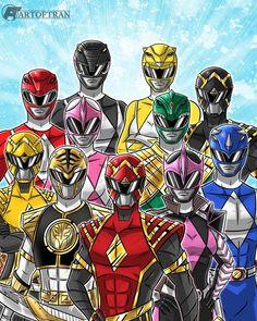 Power Rangers Poster, Power Rangers Fan Art, Power Rangers Cosplay, Powe Rangers, Jason Lee Scott, Ranger Armor, Legion Of Superheroes, Mighty Morphin Power Rangers, Fantasy Fiction